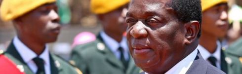 Emmerson Mnangagwa on 1 November 2017, before he was sacked as vice-president