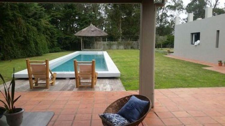 View of the swimming pool of Rocco Morabito's villa in Punta del Este