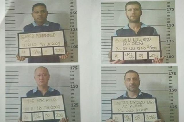 Photographs showing the four escaped prisoners