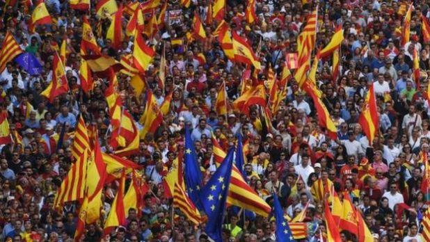 Manifestación a favor de la unidad de España