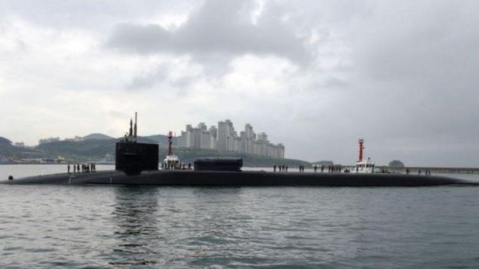 Nyambizi ya Marekani USS Michigan iliopo Korea kusini