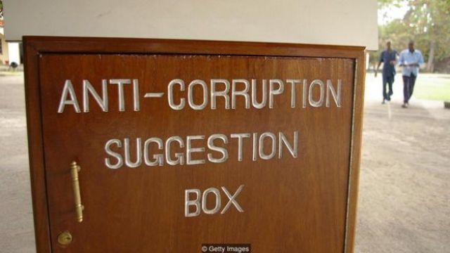 Caixa de sugestões contra a corrupção