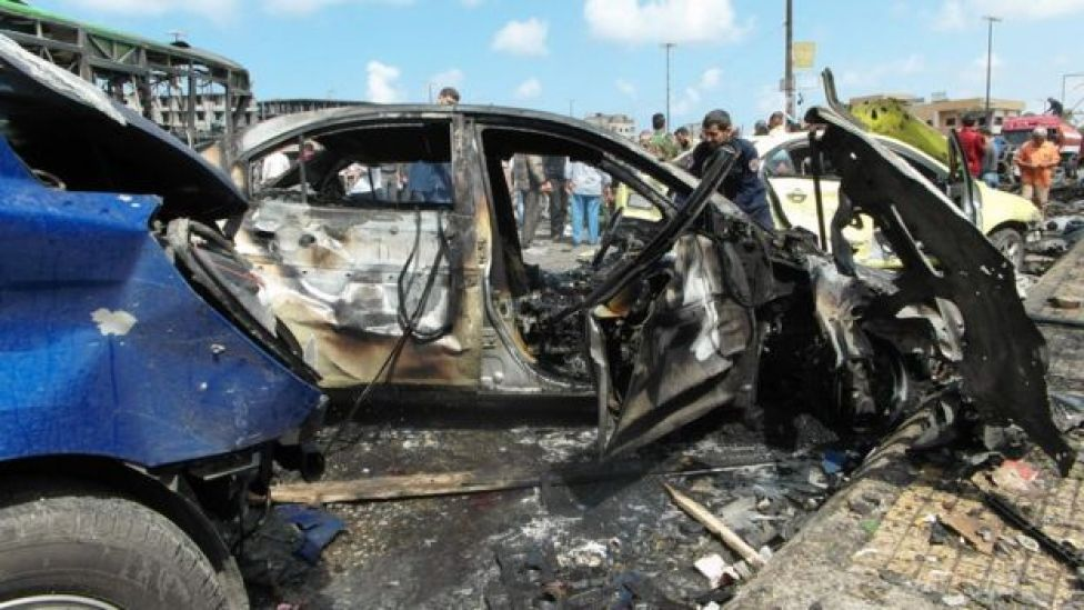 Aftermath of bombing in Jableh, Syria (23 May 2016)