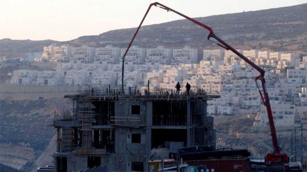 Construction at Givat Zeev settlement