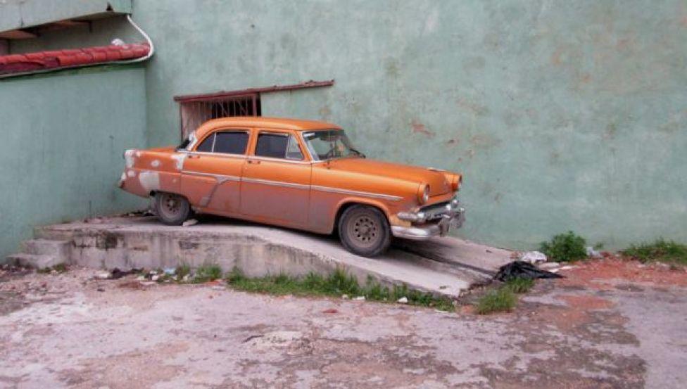 Car on an incline