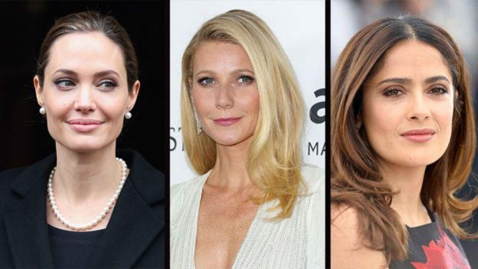 Angelina Jolie, Gwyneth Paltrow y Salma Hayek