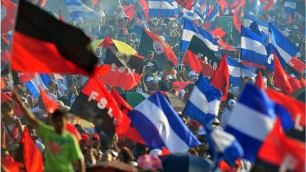 Conmemoración del 33 aniversario de la Revolución Sandinista en 2012.
