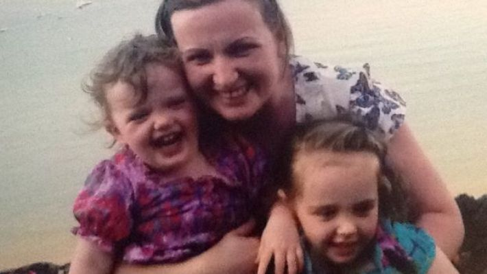 Vera Twomey with her daughters Ava (right) and Sophia