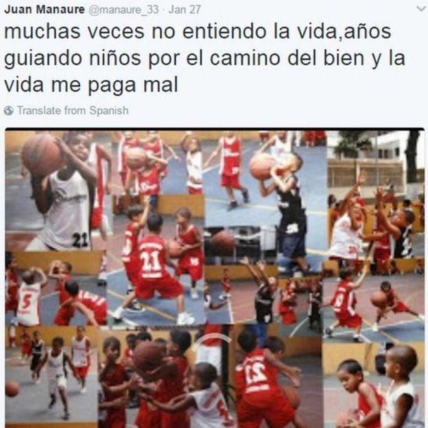 Tweet by Juan Manaure