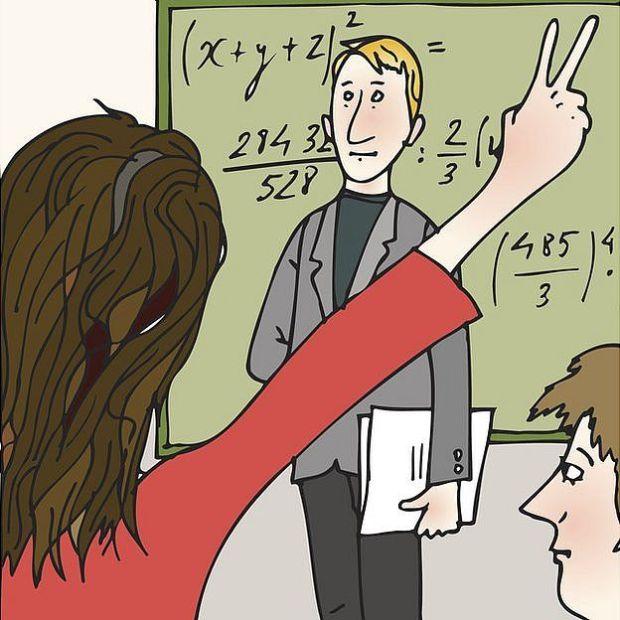 Caricatura de clase de matemáticas