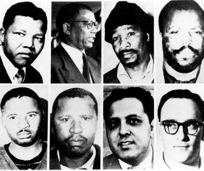 A composite showing all those found guilty at the Rivonia trial