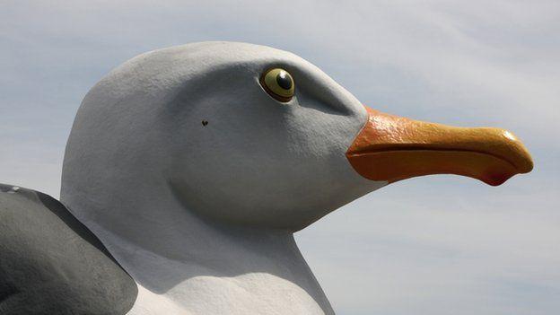 Seagull statue