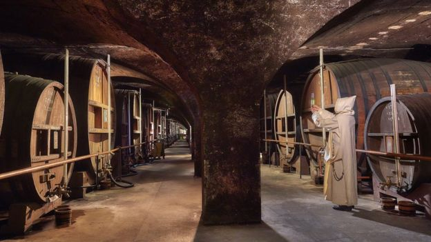 Barrels of Chartreuse in the vaults