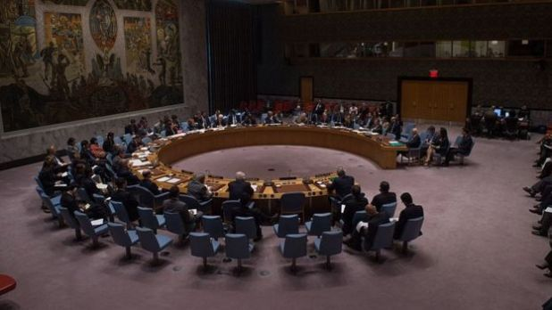An overall view of a United Nations Security Council emergency meeting on the situation in Syria, at the United Nations September 25, 2016 in New York