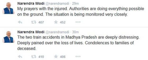 Tweets by Narendra Modi