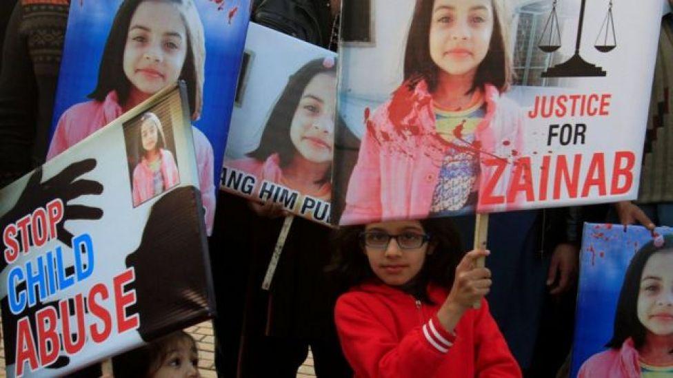 Protesta pidiendo justicia para Zainab