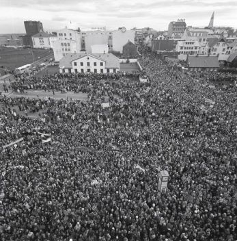 Image result for 1975 – In Iceland, 90% of women take part in a national strike, refusing to work in protest of gaps in gender equality.