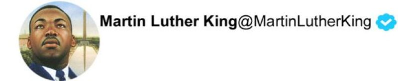 Twitter Martin Luther King