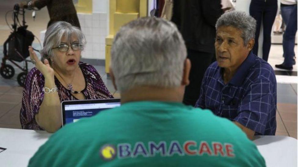 Inscripción en el Obamacare.