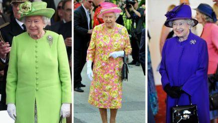 La reina suele vestir atuendos muy coloridos