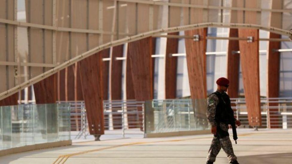 Agente da Força Nacional no Parque Olímpico