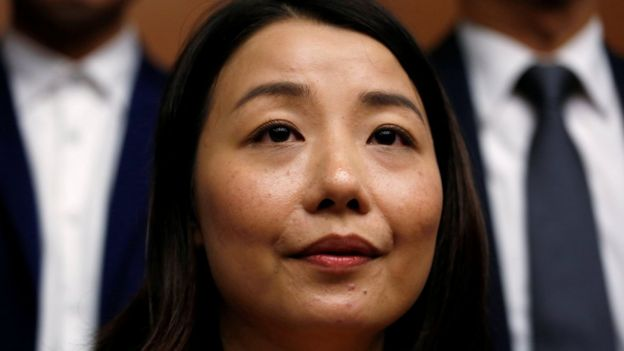 Pro-democracy lawmaker Lau Siu-lai attends a news conference at the Legislative Council in Hong Kong November 30, 2016