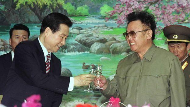 दक्षिण और उत्तर कोरिया के नेता