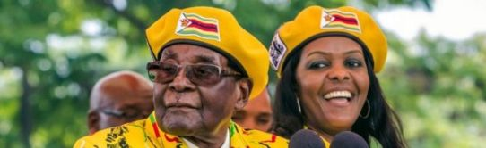 Grace and Robert Mugabe together
