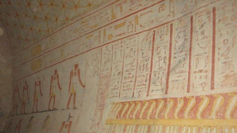 Pinturas de las pirámides de Jebel Barkal.
