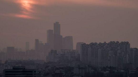 Skyline de Seul, a capital da Coreia do Sul