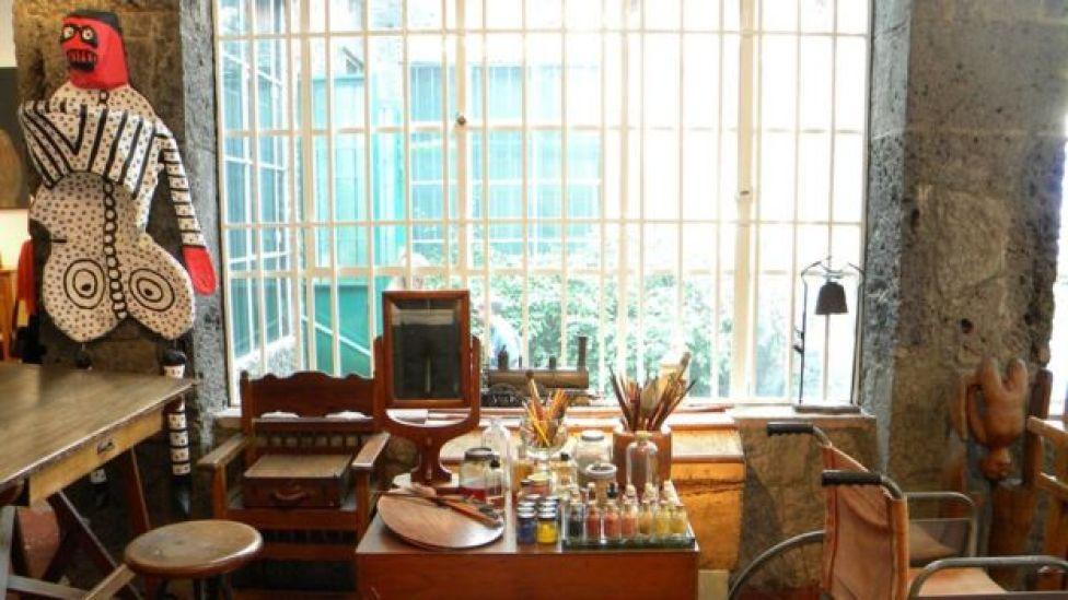 Ateliê na casa de Frida e Diego na Cidade do México