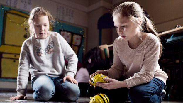Crianças em escola finlandesa