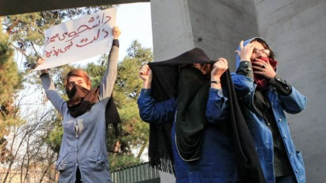 Iran protests Iranian students protest at Tehran University