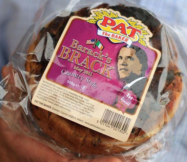 Pan hecho en honor del presidente de EE.UU.