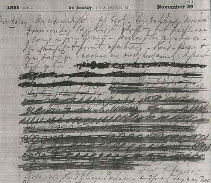 Página do diário de Edward Sladen