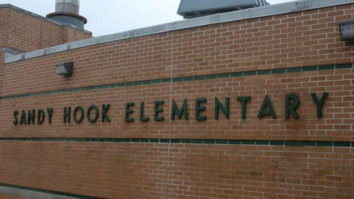 Outside shot of Sandy Hook Elementary School