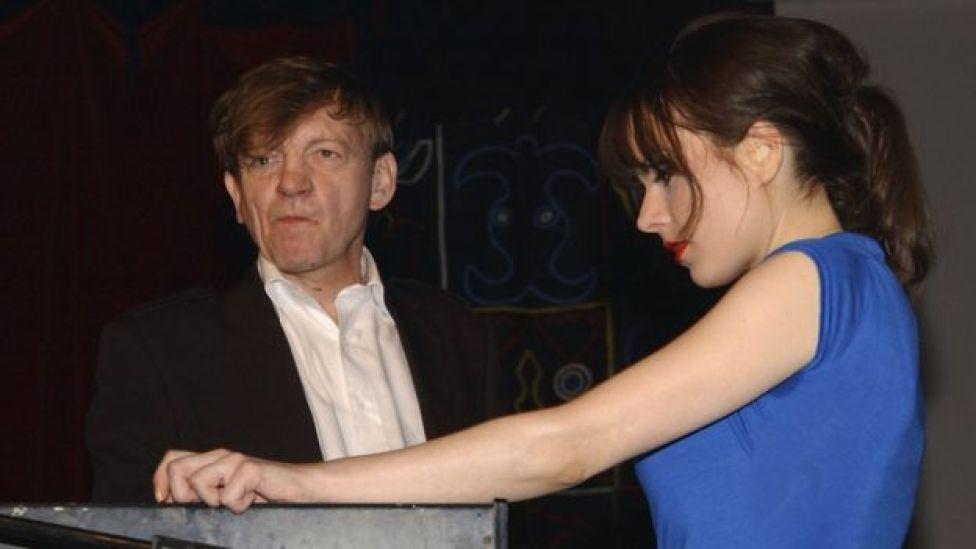 Mark E Smith and Elena Poulou in 2007