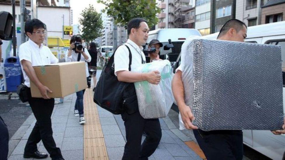 Decomiso de computadoras y otros efectos de la casa en Tokio del operador cambiario francés Mark Karpeles