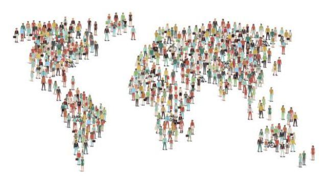 Mapa con gente