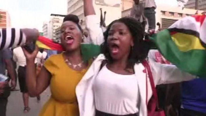 Celebrations in Harare