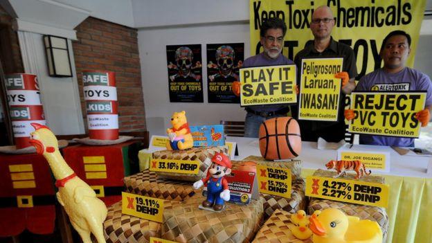 Campanha contra brinquedos com ftalatos