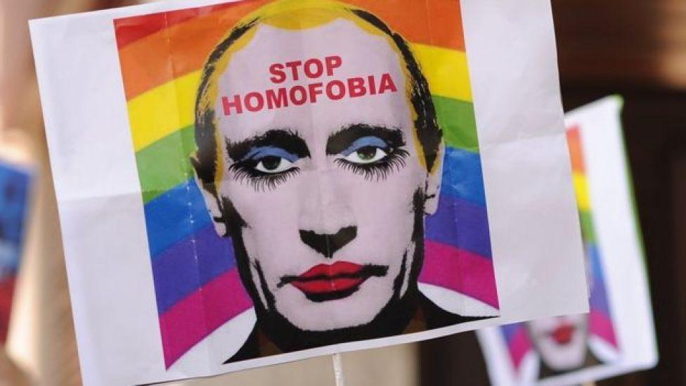 Protesto contra homofobia na Rússia