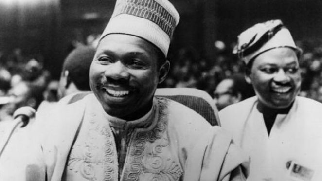 13th July 1977: Nigerian head of state Lt General Olusegun Obasanjo at the summit meeting of African heads of state at Libreville in Gabon