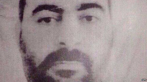 A handout picture released by the Iraqi Ministry of Interior in January 2014 shows a photograph purportedly of Abu Bakr al-Baghdadi