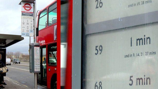 Epaper bus stop