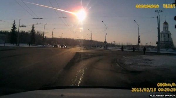 Moment meteor exploded over Russian city BBC News