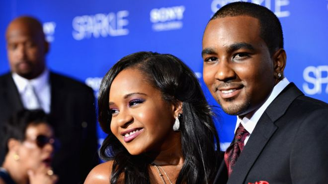 Bobbi Kristina Brown (L) and Nick Gordon in Hollywood in August 2012