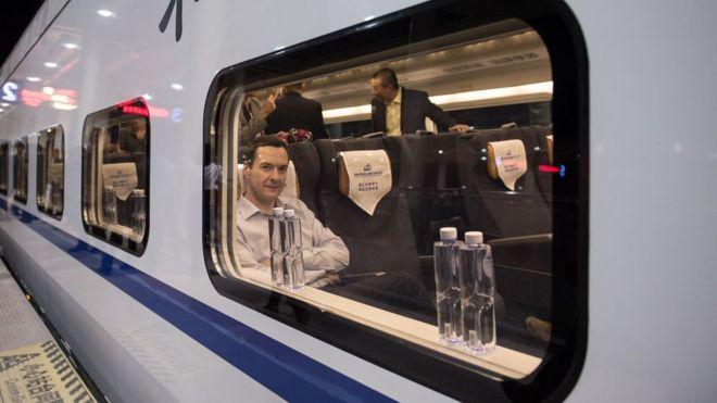 George Osborne and high speed China