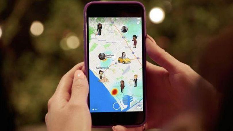 Mapa Snapchat