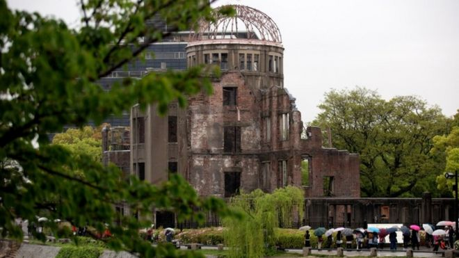 The atomic bomb dome at the Hiroshima Peace Memorial Park